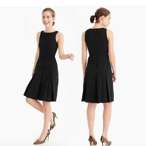 J. Crew Pleated A-line Dress in Two-Way Stretch